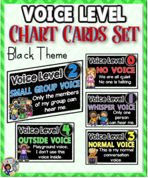 Voice Level Chart Cards Set {Black Theme}