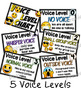Voice Level Chart Cards Set and Brag Tags {Emojis}