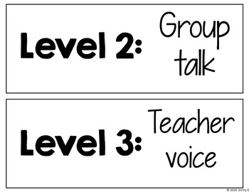 Voice Level Chart: Classroom Management Tool