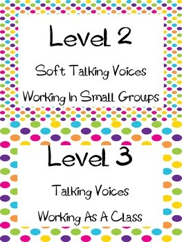 Voice Level Chart--Colorful Polka Dots