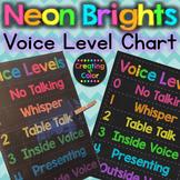 Voice Level Chart - Neon Brights Chalkboard