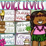 Voice Level Chart Posters Classroom Management Tropical Tiki Luau Beach Theme