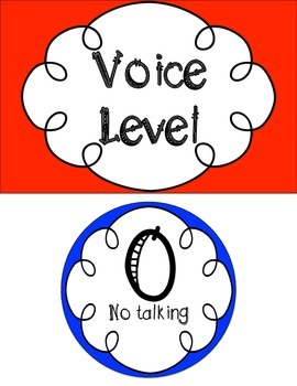 Voice Level Chart {Primary and Secondary Colors}