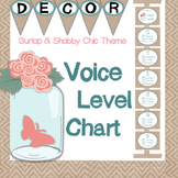 Voice Level Chart - Shabby Chic & Burlap Theme