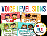Voice Level Chart Signs for the Classroom