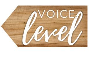Voice Level Chart - Simple Farmhouse Decor