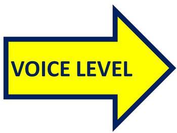 Voice Level Chart for Behavior Management
