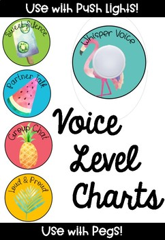 Voice Level Chart for use with Push Lights
