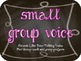 Voice Level Chart in Black Chalkboard with Colorful Lettering