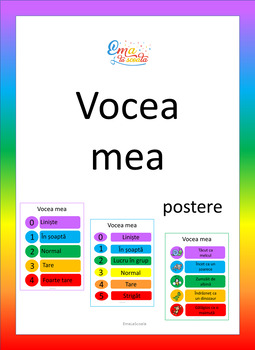 Voice Level Chart in Romanian