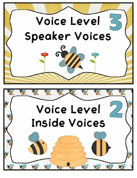 Voice Level Chart with a Bee Theme