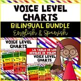 Voice Level Charts Bilingual Bundle: English & Spanish