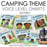 Voice Level Charts Camping Theme Editable