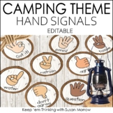 Hand Signal Signs Camping Theme Editable