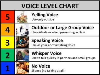 Voice Level Charts and Stoplight Visuals