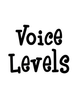 Voice Level Classroom Chart