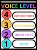 Voice Level Classroom Management Kit Posters, Spinners, Wheels, Labels