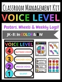 Voice Level Classroom Management Kit Posters, Spinners, Wh