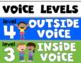 Voice Level Classroom Management Poster for Kindergarten a