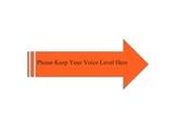 Voice Level Expectations Arrow- Orange