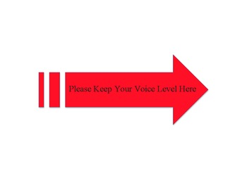 Voice Level Expectations Chart Arrow-  Red
