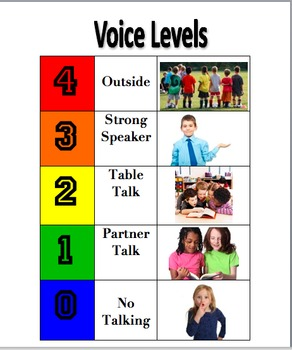 Voice Level Expectations Poster