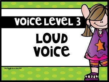 Voice Level Indicator Sign Set