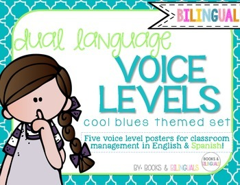 Voice Level Management Chart {Bilingual} Cool Blues