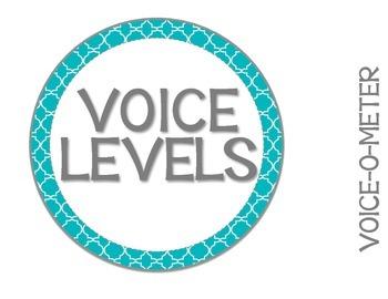 Voice Level Management Chart {English} Blue & Grey