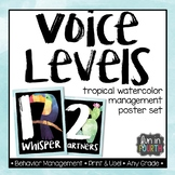 Voice Level Management Posters Tropical Watercolor Themed