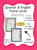 Voice Level - Niveles de voz Posters English & Spanish
