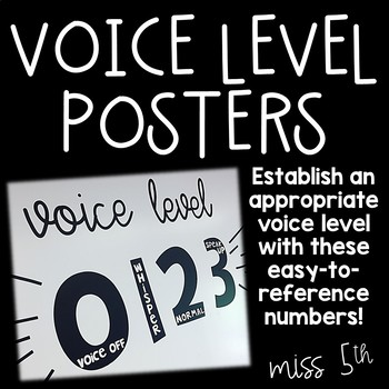 Voice Level Numbers