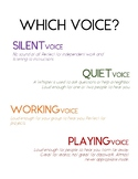 Voice Level Poster