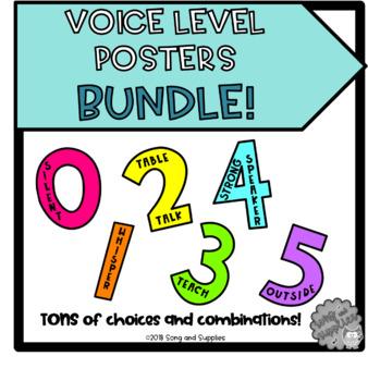 Voice Level Poster BUNDLE! - *On SALE through 2/10*