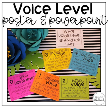 voice level poster powerpoint by bruno s blackboard tpt