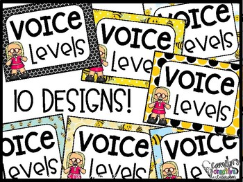 Voice Level Poster and Cards - Bee Theme