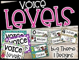 Voice Level Poster and Cards - Bug / Insect Theme