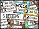 Voice Level Poster and Cards - Camping Theme