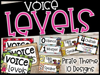 Voice Level Poster and Cards - Pirate Theme