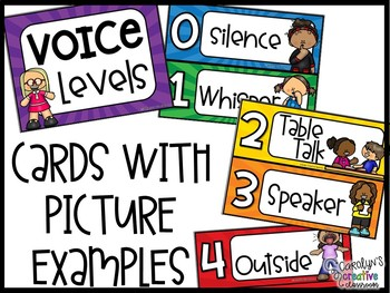 Voice Level Poster and Cards - Super Hero Theme