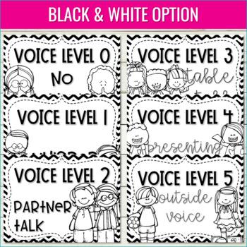 Voice Level Chart   Cursive, Editable