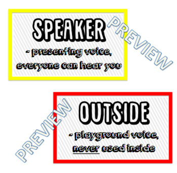 Voice Level Posters In Two Sizes (3x5 & 5x7)