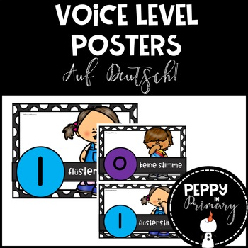 Voice Level Posters - AUF DEUTSCH!