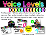 Voice Level Posters {Black & Brights Collection}