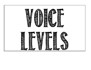 Voice Level Posters (Black and White)