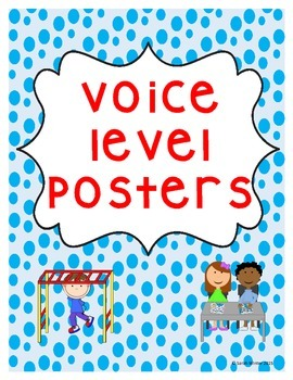 Voice Level Posters - Blue Dots