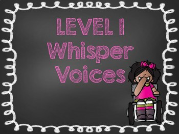 voice level posters bright chalkboard theme
