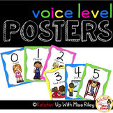 Voice Level Posters (Bright Colors and Black & White Options)