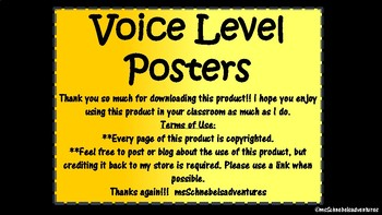 Voice Level Posters - Brights