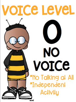 Voice Level Posters Bumblebee Bee Theme Class Management